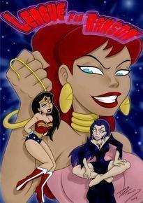 Mulher maravilha em apuros – Liga da Justiça